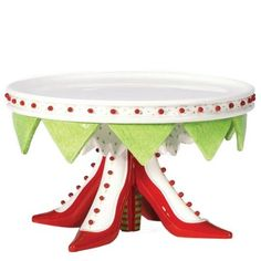 Amazon.com: Department 56 Krinkles High Heel Shoe Cake Plate: Home & Kitchen