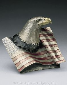 Justice Bronze #Eagle with Flag Sculpture by Mark Hopkins