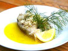 Kokt torsk med pepparrot och skirat smör   Recept.nu