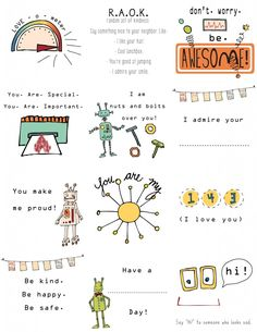 Lunchbox notes:  Super cute FREE printables