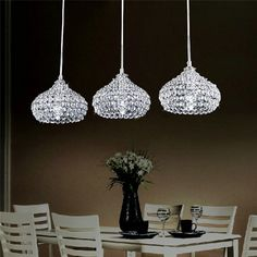 6 fl kristall h ngeleuchte kronleuchter pendelleuchte deckenleuchte lampe wohnung. Black Bedroom Furniture Sets. Home Design Ideas