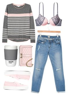 """""""casual denim"""" by vigilexi ❤ liked on Polyvore featuring Duffy, Rebecca Minkoff, Joshua's and Pantone"""