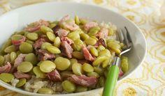 Smoked Ham Hocks and Lima Beans
