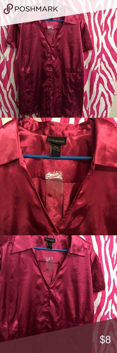 Lane Bryant new wth tags sz 26/28 top Maroon ss Summer top button front cool n goes wth all tags attached from Lane Bryant Lane Bryant Tops Blouses