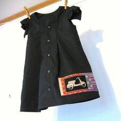 Vespa Eco-fashion Dress: Made from recycled men's shirts ins sizes 12mos to sz 5. $56.