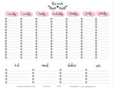 "Hi everybody!  Today, I thought I would help many of you ""newbie"" and veteran planners with a planner printable that will work as an ""empty my brain and write it down"" place for all the tasks you want to list for your upcoming week!  I used a pretty script font, watercolor brush strokes and my heart … … Continue reading →"