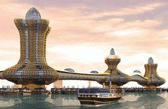 'Aladdin City' in the middle of Dubai Creek