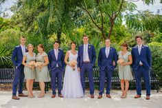 Sunglow Photography | winter park florida wedding party, peach, white, ivory, green, and blue dapper wedding party