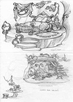 Background Drawing, Animation Background, Disney Kunst, Disney Art, Art Sketches, Art Drawings, Witch Coloring Pages, Diy Y Manualidades, Disney Fairies