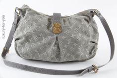 luxuryforyou.ch - first class second hand - Louis Vuitton Slightly Bag Denim in Grau M95834