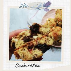 Cookioches, moitié cookie - moitié brioche Dessert, Cookies Et Biscuits, Waffles, Cereal, Muffin, Veggies, Breakfast, Food, Brioche