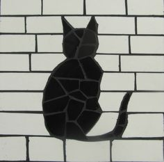 Pretty cats posing as they like to do in a simple black and white design!  Individual tiles or sets available. They can be used as decorative tiles or practical coasters - materials used are waterproof.  Please contact me if you would like sets in a different colour.