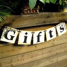 Gift table banner.