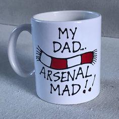 Arsenal Gifts, My Dad, Fathers Day, My Etsy Shop, Football, Mugs, Shopping, Soccer, Futbol