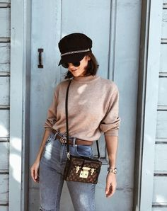 ShopStyle Style Influencer Steph Weizman steps out in a weekend perfect outfit! Outfits With Hats, Casual Outfits, Girl Outfits, Denim Outfits, Winter Fashion Outfits, Autumn Fashion, Everyday Outfits, Everyday Fashion, Fashion Advice