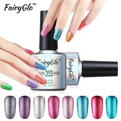 FairyGlo 10 ml Glitter UV Led Gel Polish Platina Nail Gel Polish losweken GelPolish GelLak Semi Permanente Gel inkt Lucky Shilak