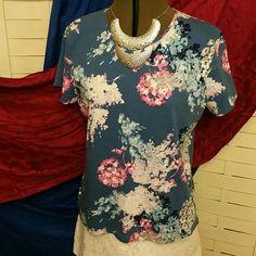 3 for $15 C&B Classic Tee EUC Floral short sleeved tee FIRM UNLESS BUNDLED Croft & Barrow Tops