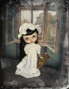 Blythe  Vintage  Inspired Nightgown & Cap 3 Piece   by KarynRuby