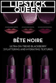Discover your dark side with Lipstick Queen's new Bete Noir lipsticks.