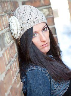 Crochet Teen / Ladies Wool Beanie  Hat  by KerensHatBoxBoutique