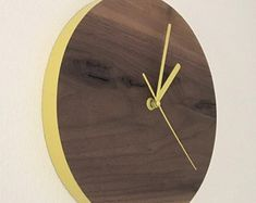 Wall Clock Wood Wall Clock Square Big Clock Square Wooden | Etsy Rustic Wall Clocks, Farmhouse Wall Clocks, Wood Clocks, Rustic Walls, Wooden Walls, Big Clocks, Unique Clocks, Veneer Panels, Geometric Patterns