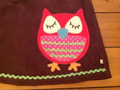 Beautiful Girls Dress by Frugi Age 3 4 with Appliqué Owl Detail |