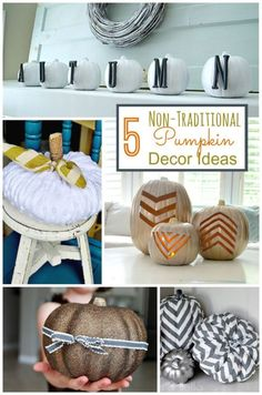 5 Non-Traditional Pumpkin Decor Ideas For Fall! Some of these are SUPER simple too!  | eBay