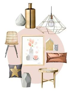 copper gold pink and grey