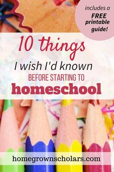 When you first start homeschooling, things can feel really overwhelming Here is a list of 10 things I wish I'd known before starting to homeschool! Benefits Of Homeschooling, How To Start Homeschooling, Encouraging Thoughts, I Wish, Home Schooling, Working Moms, Things To Know, Parenting Hacks, Learning