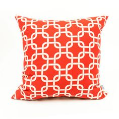 Majestic Home Goods Red Links UV-Protected Square Outdoor Decorative Pillow