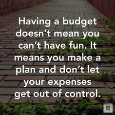 A budget is giving yourself permission to spend but with a plan. #DaveDaily