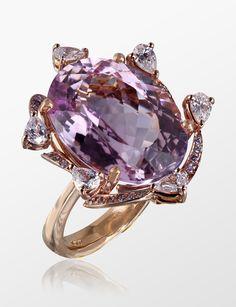 MOLU Diamond Kunzite Ring in Rose Gold @Neiman Marcus Bal Harbour