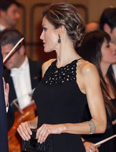 """Queen Letizia of Spain attends the 'XXIV Musical Week' closing concert at the Principe Felipe Auditorium during the 'Princess of Asturias 2015 Awards"""" on October 22, 2015 in Oviedo, Spain."""
