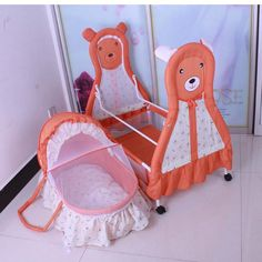 99.74$  Watch here - http://alix6t.worldwells.pw/go.php?t=32647981452 - 5 colors simple classic design good quality Baby cradle baby bed bb portable crib cartoon lovely animal newborn swing beds
