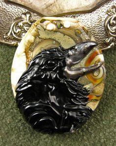 Lampwork Raven Speak Focal Bead by Kerribeads - $145.00 on Etsy!