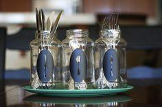 eighteen25: {Silhouette Project} Silverware Jars