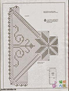 Diagrama crochet de almohadón en técnica filet | Crochet y dos agujas
