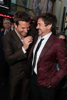Bradley Cooper and Robert Downey Jr. What a delicious combo