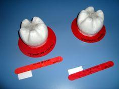 Στοματική υγιεινή- dental care craft Dental Hygiene, Dental Health, Cute Tooth, Crochet Square Patterns, Great Schools, Nursery School, Positive Quotes, Teeth, Kindergarten