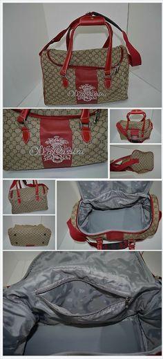 Oleg Cassini Red Signature Carry On Duffle Bag Travel www.bonanza.com