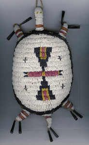 Sioux style beaded turtle amulet.  Museum quality, unknown artist excellent condition.  $650.00