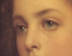 detail of Biondina by Frederic Leighton, 1879
