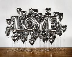 LOVE will be in the air with our impressively festive themed foil balloons. Our large mylar balloons are a fun way to add a little LOVE to your wedding or special event and are the perfect backdrop decor for a birthday party, graduation, anniversary, engagement shoot, photo booth or candy bar.
