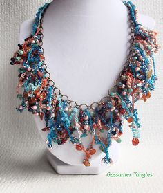 Ravelry: Chain Reaction Necklace pattern by Angela Saylor