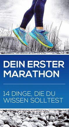 Dein erster Marathon: Das Training und der Marathon selbst sind eine enorme Herausforderung für deinen Körper und deinen Geist. Du wirst an deine Grenzen gehen bzw. laufen und über dich hinauswachsen. Diese Liste mit den 14 Dingen, die ich gerne vor meinem ersten Marathon gewusst hätte, hilft dir bei der Vorbereitung auf deinen ersten Marathon. #marathontraining #marathonlaufen #joggen