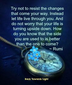Try not to resist.... rumi