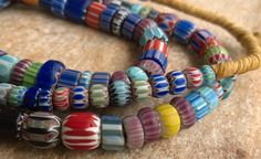 African Trade BeadsVintage Venetian Chevron by RedEarthBeads