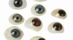 Make your own eyeballs for homemade crafts using polymer clay