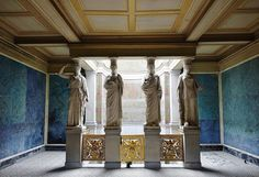 The Roman Bath. 1829.Karl Friedrich Schinkel. German 1781-1841. architecture. interior design.Sanssouci Park. Potsdam. Germany.http://hadrian6.tumblr.com