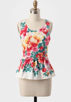 Garden Escape Peplum Top | Modern Vintage Tops | Modern Vintage Clothing
